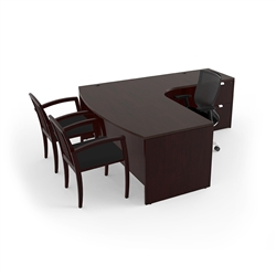 Jade Executive Desk JA-113R by Cherryman