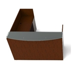Cherry Wood Jade Reception Desk JA-124N-CHER