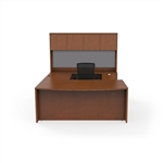JA-172N Jade Wood Veneer U-Desk Set by Cherryman