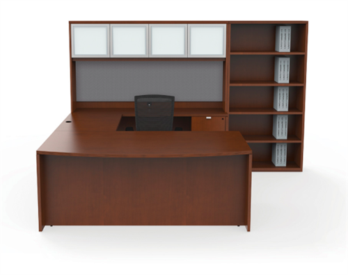 Cherryman Industries JA-176N Jade Series Modern U Shaped Executive Desk