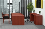 Ruby Executive Desk and Credenza Set by Cherryman