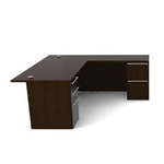 Verde VL-621N L Desk with Storage by Cherryman