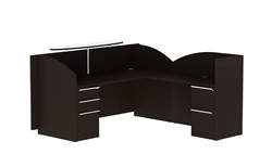 Verde Modern Reception Desk VL-644R by Cherryman