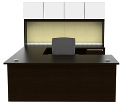 Verde VL-676N Modern U Shaped Desk by Cherryman