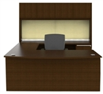 Verde VL-677N U Shaped Desk with Hutch by Cherryman