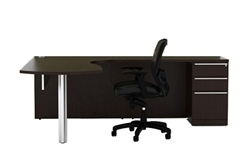 VL-719 Verde Series L Shaped Desk with Return by Cherryman