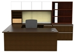 Verde Series U Desk Configuration with Storage Hutch VL-731N by Cherryman