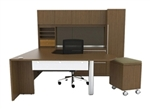 Cherryman VL-736 Verde Series U Shaped Executive Workstation