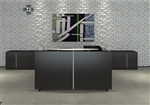 Verde Rectangular Reception Desk VL-751N with Pedestals by Cherryman
