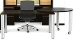 Verde Table Desk VL-866 with Side Pivot Table by Cherryman