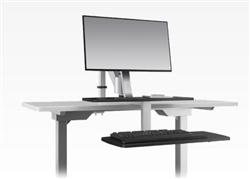 ESI Ergorise CLIMB1 Sit To Stand Workstation with Clamp Mount