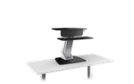 Lift Wooden Base Sit To Stand Mount with Keyboard Platform by ESI Ergonomic Solutions