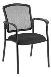 Dakota 2 Black Mesh Guest Chair 7011 by Eurotech
