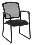 Dakota 2 Black Sled Base Mesh Guest Chair 7055SB by Eurotech