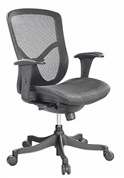 Basic Series Fuzion Mesh Chair FUZ5B-LO by Eurotech