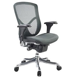 Fuzion Luxury Series Black Mesh Back Office Chair FUZ8LX-LO by Eurotech