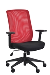 Gene Red Mesh Back Office Chair by Eurotech Seating