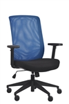 Gene Blue Mesh Back Office Chair by Eurotech Seating