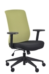 Gene Lime Fabric Back Office Chair by Eurotech Seating