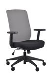 Gene Grey Fabric Back Office Chair by Eurotech Seating