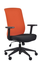 Gene Orange Fabric Back Office Chair by Eurotech Seating