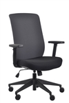 Gene Charcoal Fabric Back Office Chair by Eurotech Seating