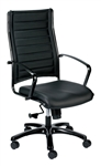 Europa Metallic Series High Back Office Chair by Eurotech