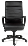 Manchester Black or Brown Leather Office Chair LE150 by Eurotech