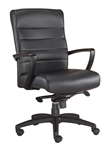 Manchester Mid Back Leather Office Chair LE255 by Eurotech
