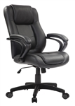 Pembroke LE522 Mid Back Leather Manager Chair by Eurotech
