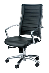 Europa Modern Leather Ergonomic Office Chair LE811 by Eurotech