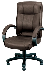 Odyssey Series Brown Leather Executive Conference Chair LE9406BRN by Eurotech