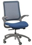 Hawk Series Blue Mesh Back Task Chair by Eurotech Seating