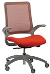 Hawk MF22 Orange Office Chair with Gray Frame by Eurotech Seating