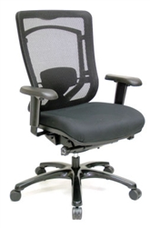 Monterey MFSY77 Mesh Computer Chair with Black Fabric Seat by Eurotech