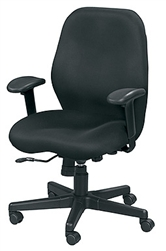 Aviator Black Mesh Upholstered Task Chair MM5506 by Eurotech Seating