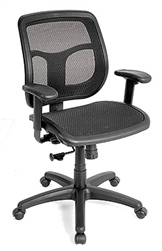 Apollo Ergonomic Black Mesh Back Swivel Chair MMT9300 by Eurotech Seating