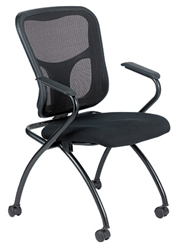 Flip Series Nesting Chair with Arms NT5000ARM by Eurotech