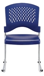 Aire Series Navy Blue Stack Chair S4000 by Eurotech (4 Pack!)