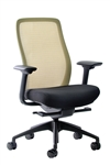 Vera Dandelion Yellow Mesh Back Office Chair by Eurotech Seating