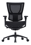 iOO High End Ergonomic Black Mesh Office Chair by Eurotech Seating
