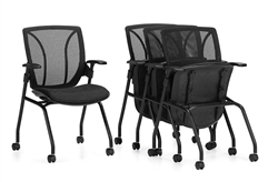 Roma Mesh Back Flip Seat Nesting Chair 1899 by Global