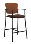 Twilight Contemporary Wood Back Bar Stool 2188 by Global