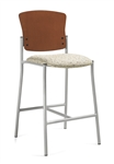 Twilight Contemporary Armless Bar Stool with Wood Back 2189 by Global
