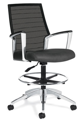 Incroyable Accord Mesh Back Drafting Chair 2678LM 6 By Global