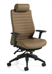 Global Aspen 2850LM-3 Leather Office Chair