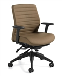 Aspen Leather Office Chairs 2852LM-3 by Global