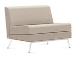 Wind Linear Series 3361NA Armless Leather Lounge Chair by Global