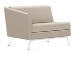 Wind Linear Series Right Arm Leather Lounge Chair 3361RLM by Global