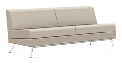 3363NALM Armless Wind Linear Sofa in Leather by Global